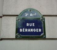 Plaque de la rue Béranger à Paris