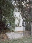 statue de Béranger dans le square du Temple à Paris