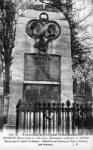 La tombe de Béranger au cmetière du Père-Lachaise, carte postale ancienne
