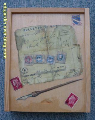 Une boîte en bois décorée pour ranger les perles