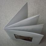 carte de vœux 2008, version origami, en cours de réalisation, vue de dessus