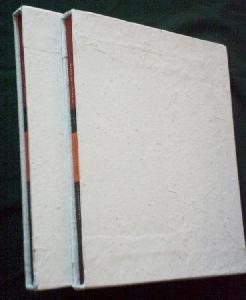 vue du plat des emboîtage, de trois-quarts, avec les livres à l'intérieur