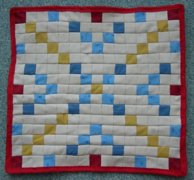 Scrabble en tissu, 1, terminé