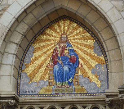 Niort, église Saint-Etienne-du-Port, 7, le tympan en mosaïque