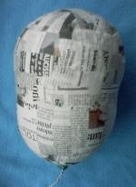 La tête de mannequin, première étape avec papier journal