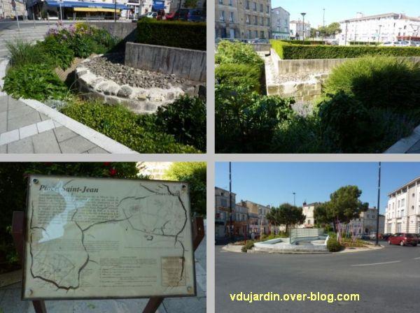 Niort, place Saint-Jean, 2, ruines archéologiques et panneau explicatif