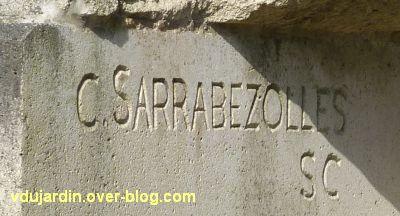 Lons-le-Saunier, monument aux résistants du Jura, 2, signature de Charles Sarrabezolles