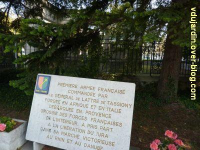 Lons-le-Saunier, monument aux résistants du Jura, 4, plaque commémorative