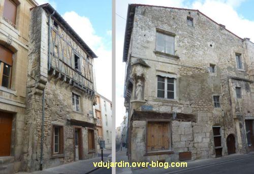 Niort, la maison de la Vierge, 1, les deux façades