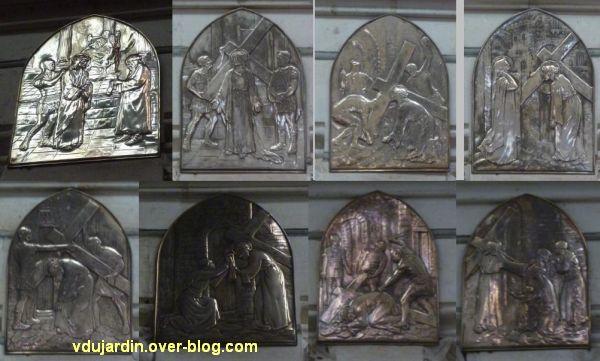 Niort, le chemin de croix de l'église Saint-Etienne-du-Port, 2, les stations 1 à 8
