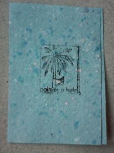 Une care toute simple avec un tampon de palmier