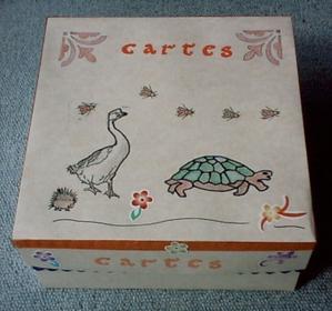 Boîte en papier pour mes cartes