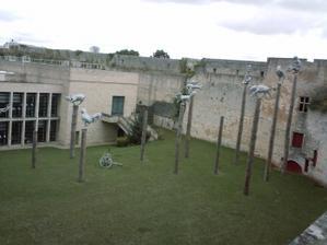 La cour du musée des beaux-arts de Caen