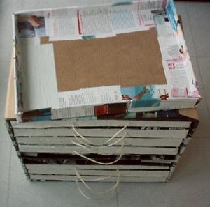 Avancée de mon meuble en carton pour tampons et des tiroirs