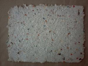 Papier moulé sur du plastique bulle