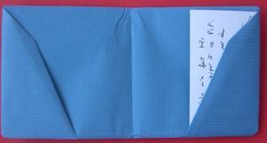 Porte-carte en origami, ouvert