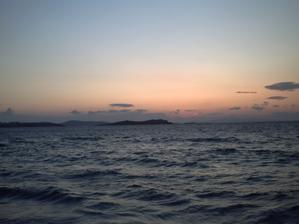 Coucher de soleil à Mykonos, 29 septembre 2008