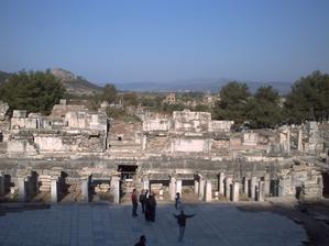 Le mur de scène du théâtre d'Éphèse