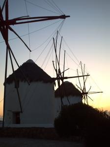 Les moulins à Mykonos