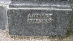 Signature du fondeur A Durenne Sommevoire