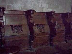 Stalles de la chapelle Halbout dans l'église Saint-Etienne