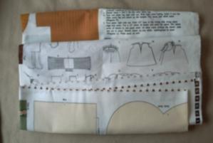 Tissu pour poupée trouvé dans la boutique d'Echiré