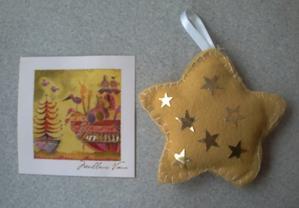 L'étoile et la carte reçues de Petite Fée Nougat