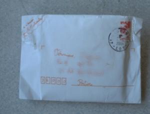 Enveloppe reçue de la Petite Fée Nougat