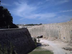 Rhodes, les remparts