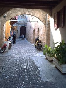 Ruelle de la vieille ville de Rhodes