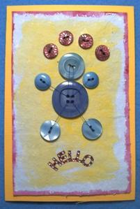 Carte bonhomme en boutons
