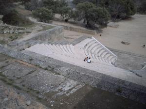 Rhodes, acropole du mont Smith, l'odéon