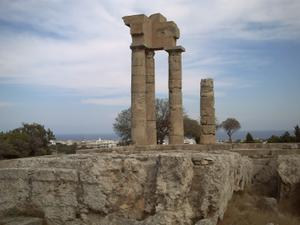 Rhodes, acropole du mont Smith, le temple d'Apollon
