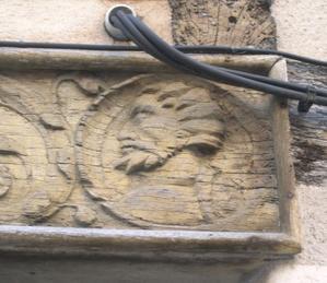 Poitiers, 15 rue Cloche-Perse, portrait d'homme