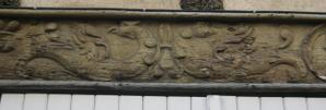 Poitiers, 15 rue Cloche-Perse, animaux de la partie gauche de la sablière