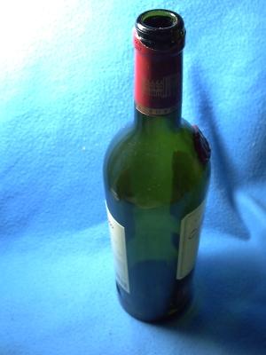 Bouteille de vin (vide)