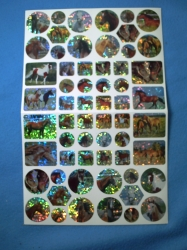 Planche de stickers avc chevaux