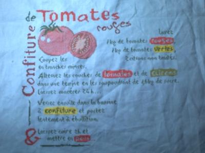 Le SAL confiture de tomates, les dix premières étapes