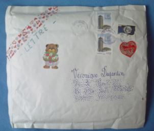 Enveloppe reçue de Muriel
