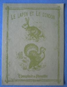 Le lapin et de dindon du comptoir des familles