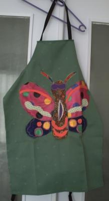 Tablier au papillon, création de Florence Pacaud