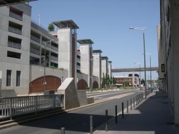La gare de Poitiers, le nouveau parking