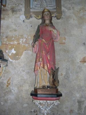 Sainte Marguerite d'Antioche, statue, église Saint-Nicolas de Civray (Vienne)