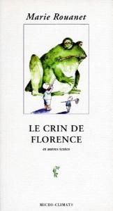 Couverture du Crin de Florence de Marie Rouanet