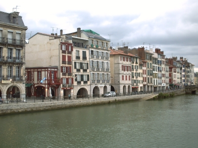 Bayonne, La Nive, rive droite