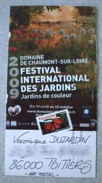 Carte d'art postal sur Chaumont-sur-Loire, recto