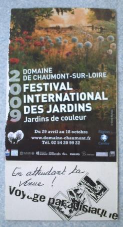 Carte d'art postal sur Chaumont-sur-Loire, verso
