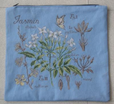 Pochette avec le SAL étude de plantes, face jasmin