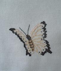 Papillon brodé