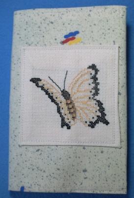 Couverture de carnet avec papillons